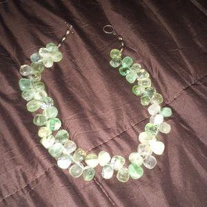 Jewelry - Jade toggle necklace.